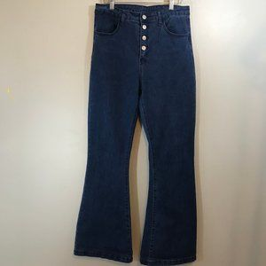 SHEIN Super High Rise Bell Bottom Jeans Size L